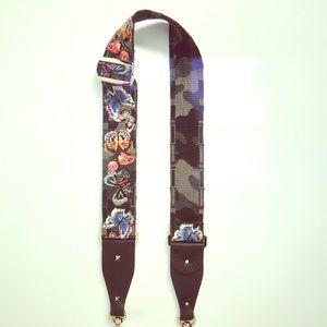 Valentino Rockstud-camo/butterfly Guitar Bag Strap